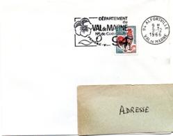VAL De MARNE - Dépt N° 94 ALFORTVILLE 1966 = FLAMME Codée = SECAP  ' N° De CODE POSTAL / PENSEZ-Y ' - Zipcode