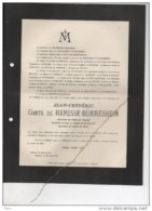 Comte De Renesse-Bürresheim °1853 Bilzen + 23/4/1919 Béverst Westerhilt-Gysenberg Burgemeester Berloz Barones De Tornaco - Avvisi Di Necrologio