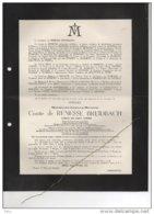 Max. De Renesse-Breidbach Comte Bourgmestre Oostmalle Du Bus De Gisignies °1867 + 31/3/1951 Jabbeke D'Ursel Vander Burch - Avvisi Di Necrologio