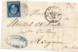 Paris - Dvt L Affr N° 14A Obl Cercle De Points 3306  Càd * PARIS * (60) - Marcophilie (Lettres)