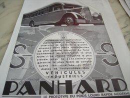 ANCIENNE PUBLICITE POID LOURD RAPIDE MODERNE PANHARD 1932 - Trucks