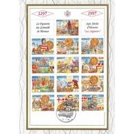 Feuillet CEF N° 75/420 - La Dynastie Des Grimaldi De Monaco - FDC