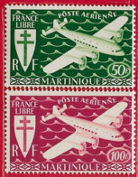 Martinique PA N°4 & 5 1945 ** - Aéreo