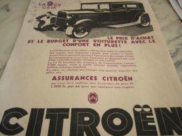 ANCIENNE PUBLICITE  PRIX D ACHAT CITROEN   1932 - Cars