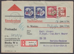 MiNr. 291/2, Portogerechte MiF Auf R-NN-Postsache - [6] Democratic Republic