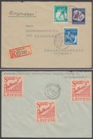 MiNr. 292, 298/9, MiF Auf R-Brief Mit Ankunft - [6] Democratic Republic