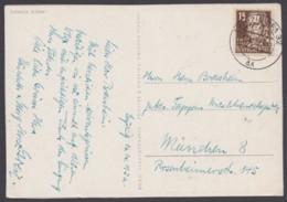 """MiNr. 331, EF, Bedarfskarte """"Leipzig"""" - DDR"""