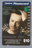 AU.- Telstra Phonecard $10. TOMMY EMMANUEL & The Australian Philharmonic Orchestra. Australia AUSTRALIË 0103932877 - Personen