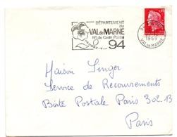 VAL De MARNE - Dépt N° 94  ARCUEIL 1969 = FLAMME Codée = SECAP  ' N° De CODE POSTAL / PENSEZ-Y ' - Zipcode