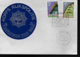 PAYS BAS Lettre 1986 Leiden Motos Protection De La Nature Police - Motorbikes