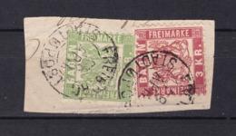 Baden - 1868 - Michel Nr. 23/24  - Briefst. - Gest. - 25 Euro - Baden
