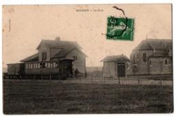 MOLINET  LA GARE AVEC TRAIN ANIMEE - Autres Communes