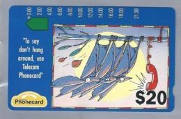AU.- Telecom Phonecard $20. To Say Don't Hang Around, Use ..... Australia AUSTRALIË. A920104-4-3. - 0000022171457 - Telecom