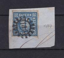 Bayern - 1862- Michel Nr. 10 - Briefst. - Gest. - 25Euro - Bavaria