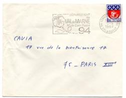 VAL De MARNE - Dépt N° 94 BONNEUIL Sur MARNE 1968 = FLAMME Codée = SECAP  ' N° De CODE POSTAL / PENSEZ-Y ' - Zipcode