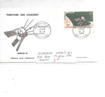 COMORES N° A 17 SATELLITE D1 PREMIER JOUR ILLUSTRE - Komoren (1975-...)