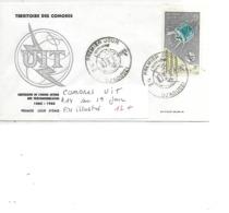 COMORES N° A 14 UIT FDC ILLUSTRE - Komoren (1975-...)