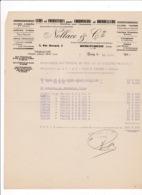 Courrier 1947 Cuirs Cordonnerie Bourrellerie Nollace & Cie, 3 Rue Bernard, Bourg-en-Bresse, Ain - Frankreich