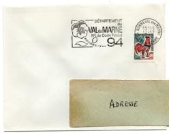 VAL De MARNE - Dépt N° 94 BONNEUIL Sur MARNE 1966 = FLAMME Codée = SECAP  ' N° De CODE POSTAL / PENSEZ-Y ' - Zipcode