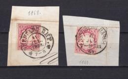 "Bayern - 1867- Michel Nr. 15 - Briefst. - Gest. - ""Bahnh"" Stempel - 30Euro - Bayern"