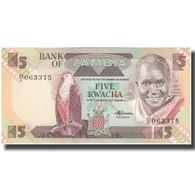 Billet, Zambie, 5 Kwacha, KM:25d, NEUF - Zambia