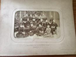 Groupe D'élèves Institution De Melle LAVERAN Et VAN TIEGHEM DUNKERQUE 1882-1883 - Fotografia