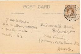 203 Sur Carte Postale De Folkstone – Paquebots Ostende Do-ver 25 VII 1927 - 1922-1927 Houyoux