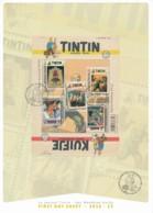 Journal TINTIN 70 Ans – émission 22-08-2016 - Feuillet Premier Jour - Bruxelles - Comics