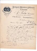 Courrier 1903 Horlogerie Bijouterie A. Pein (anc. B. Buchet), 157 Rue Nationale, Villefranche, Rhône - Frankreich