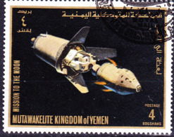 Jemen (Königreich Jemen) - Apollo-Programm Zur Erforschung Des Mondes (MiNr: 729) 1969 - Gest Used Obl - Yemen