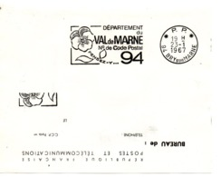 VAL De MARNE - Dépt N° 94 BRY Sur MARNE 1967 = FLAMME PP Codée = SECAP  ' N° De CODE POSTAL / PENSEZ-Y ' - Zipcode