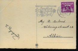 PAYS BAS Carte 1934 Tuberculose - Ziekte