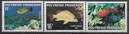 1981 PLYNESIE FRANCAISE 160-62** Poissons - Polynésie Française