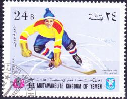 Jemen (Königreich Jemen) - Olympiade Grenoble Eishockey (MiNr: 462) 1968 - Gest Used Obl - Yemen