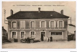 VILLETHIERRY : MAISON DENIS CAFE TABAC HOTEL RESTAURANT - Altri Comuni