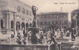 FANO-PIAZZA XX SETTEMBRE-CARTOLINA ANIMATA-NON VIAGGIATA-ANNO 1915-1925 - Fano