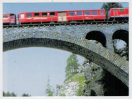 SCHWEIZ-SUISSE    TRAIN- ZUG- TREIN- TRENI- GARE- BAHNHOF- STATION- STAZIONI   2 SCAN   (NUOVA) - Treni