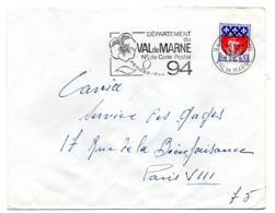 VAL De MARNE - Dépt N° 94 CACHAN Ppal 1968 = FLAMME Codée = SECAP  ' N° De CODE POSTAL / PENSEZ-Y ' - Zipcode