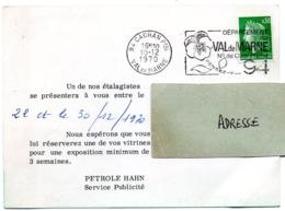 VAL De MARNE - Dépt N° 94  CACHAN Ppal 1970 = FLAMME SECAP  ' N° De CODE POSTAL / PENSEZ-Y ' + PUB PETROLE HANN - Postleitzahl