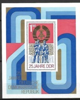 ALLEMAGNE  /  DDR    -     1974  .  Bloc-feuillet .  Y&T N° 36 ** .  25 ° Anniversaire De La RDA - [6] Oost-Duitsland