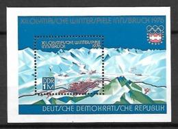 ALLEMAGNE  /  DDR    -     1975  .  Bloc-feuillet .  Y&T 38 ** .  JO D' Innsbruck - [6] Oost-Duitsland