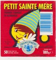 ETIQUETTE DE FROMAGE DE SAINTE MERE EGLISE  PETIT SAINTE MERE - Cheese