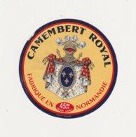 ETIQUETTE DE CAMEMBERT ROYAL - Cheese