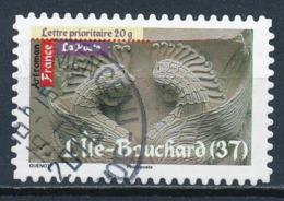 France - Art Roman - L'Ile-Bouchard YT A459 Obl. Cachet Rond Manuel - Adhésifs (autocollants)