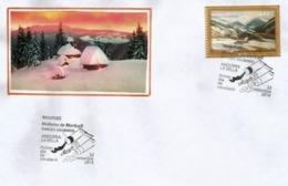ANDORRA.Paysage D'Andorre L'hiver En Peinture. Molleres De Meritxell.2019 La Massana. - Cartas