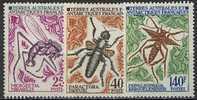 TAAF, N° 040 à N° 042** Y Et T, Insectes, 40 / 42 - Neufs