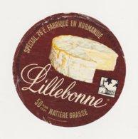 ETIQUETTE DE FROMAGE DE LILLEBONNE - Cheese