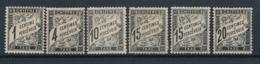 DB-394 FRANCE: Lot Avec Taxes N°10*-13*-15*-16*(2)-17 1er E 2ème Choix - 1859-1955 Neufs