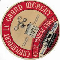 ETIQUETTE    DE FROMAGE  NEUVE   CAMEMBERT LE GRAND MORGNY THIERACHE - Cheese