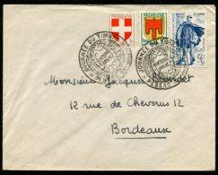 15115 FRANCE N°863 °12F+3F Bleu Journée Du Timbre 1950  Facteur Rural  OSI  Pessac Du 11.3.1950  TB - FDC